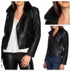 1. State Faux Faux Collar Moto Jacket